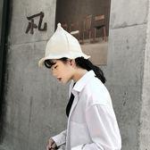 日系亞麻巫帽 尖頂漁夫帽 沙灘遮陽帽 奶嘴帽【多多鞋包店】m214