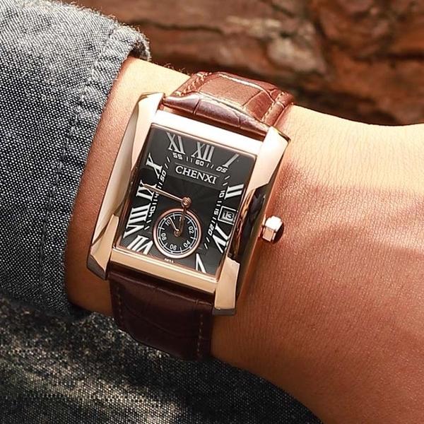 瑞士新款全自動手表男士名牌商務防水潮學生方形機械男表十大品牌科炫