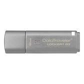 Kingston 金士頓 DataTraveler Locker+ G3 USB3.0 8GB 5年有限保固 隨身碟 (DTLPG3)
