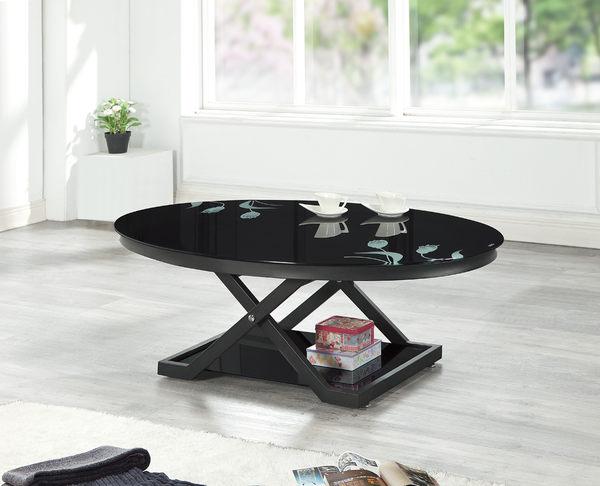 【南洋風休閒傢俱】茶几系列-F51橢圓玻璃茶几  收納沙發桌 咖啡桌 SY151-5
