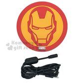 〔小禮堂〕漫威英雄 Marvel鋼鐵人 矽膠圓形無線充電板《紅黃.大臉》無線充電器 8039420-90014