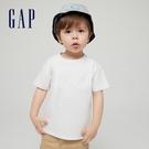 Gap男幼童 純棉舒適圓領短袖T恤 906454-灰白色