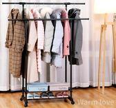 晾衣架落地折疊室內單桿式曬衣架臥室掛衣架家用簡易涼衣服的架子QM『摩登大道』