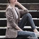 小西裝女外套2020新款格子休閒春秋款復古網紅西服上衣韓版英倫風 黛尼時尚精品