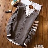 毛衣男士開衫韓版修身中長款潮男針織衫青年風衣服男秋季男裝外套 3C優購