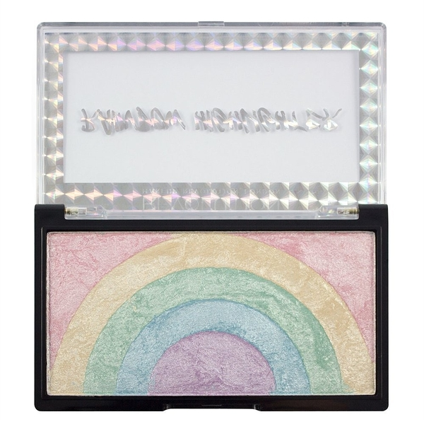 英國 Makeup Revolution Rainbow Highlighter 彩虹高光打亮盤