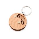 芬多森林│台灣檜木齒輪鑰匙圈,隨時與您旋轉互動的舒壓小物,可接受您的雷射雕刻客製簡單圖