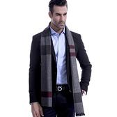 羊毛圍巾-商務經典條紋色塊秋冬防寒男女披肩4色73ts8【時尚巴黎】