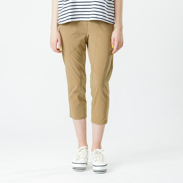 【中大尺碼】MIT時尚剪接薄布中褲
