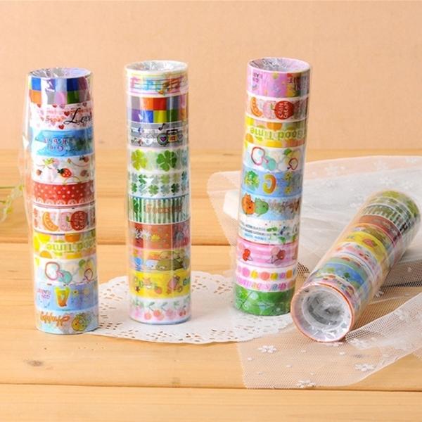 韓版紙膠帶 彩色裝飾日記本貼紙 學生diy卡通小膠帶 手作裝飾 貼紙 手撕和風膠帶 diy貼紙