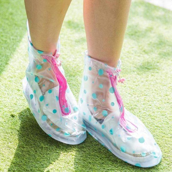 雨天透明雨鞋套加厚底防水耐磨防滑正韓卡通學生男女中筒防水鞋套【全館免運八五折下殺】