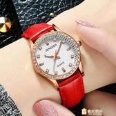 正韓手錶手錶女士防水時尚潮流石英錶學生正韓簡約皮質帶女錶 快速出貨