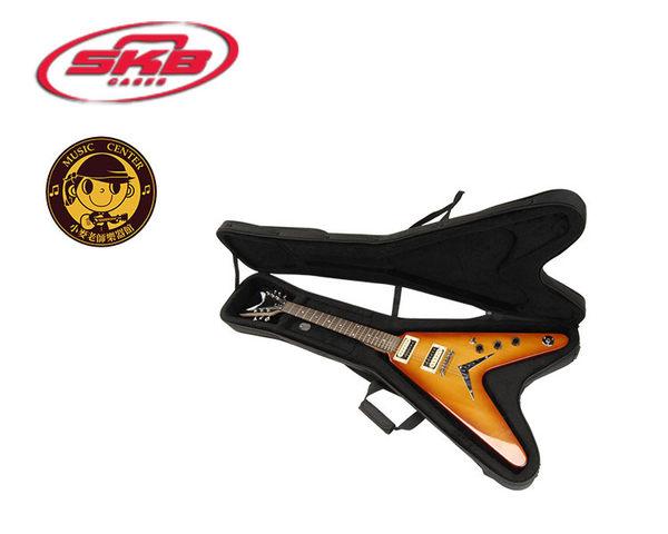 【小麥老師樂器館】 輕體硬盒 吉他盒 SKB V型電吉他專用輕體硬盒 電吉他袋 吉他 SC58 soft case