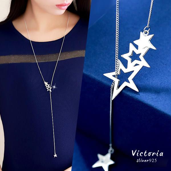 S925銀 簡約星星長項鍊-維多利亞161163