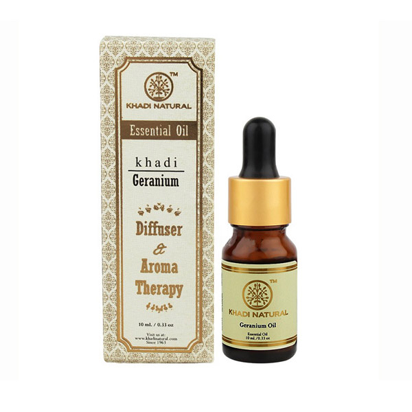 印度 Khadi 天竺葵精油 10ml 新包裝 Herbal Geranium Essential Oil【PQ 美妝】