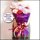 【抽取式花束-雙色小棒棒糖毛巾X50支+搭贈花束底籃1個(紫)(限宅配)】-萬用派對 幸福朵朵