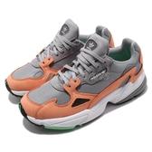 【六折特賣】adidas 老爹鞋 Falcon W 灰 橘 麂皮鞋面 復古 老爺鞋 爸爸鞋 運動鞋 女鞋【PUMP306】 B28130