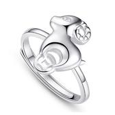 戒指 925純銀-綿羊造型生日情人節禮物女飾品73dx106【時尚巴黎】