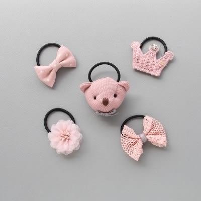現貨 韓版寶寶髮圈5件組 8款    嬰兒飾品/兒童髮飾 《寶寶熊童裝屋》