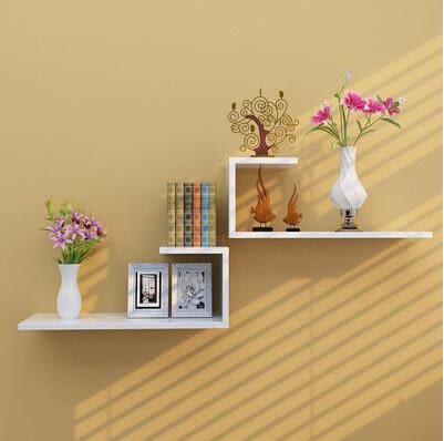 牆上置物架壁挂創意牆壁隔板客廳電視背景牆裝飾擱板臥室壁櫃格子1(首圖款)