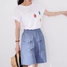 【慢。生活】薄款卡其布休閒短褲 K2321  FREE 淺藍色