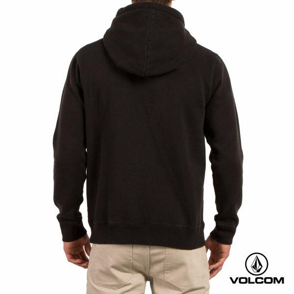 VOLCOM RELOAD P/O 帽T-水洗黑