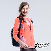 PolarStar 女 休閒抗UV連帽外套『粉橘』P18108 休閒 露營 防曬 透氣 吸濕 排汗 彈性 抗紫外線