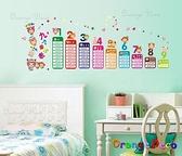 壁貼【橘果設計】九九乘法表 DIY組合壁貼/牆貼/壁紙/客廳臥室浴室幼稚園室內設計裝潢