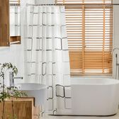 凱洛格加厚浴簾套裝防水防潑水防霉浴簾布衛生間窗簾浴室隔斷簾送掛鉤