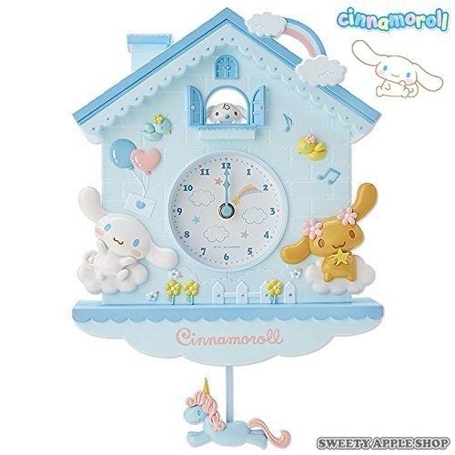 日本限定 三麗鷗 大耳狗 立體 擺鐘 / 壁掛時鐘 / 掛鐘