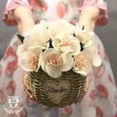 假花 假花干花仿真花擺件客廳餐廳咖啡館歐式盆栽 巴黎春天