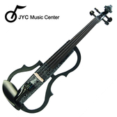 集樂城樂器 JYC SDDS-1306 彩繪琴身高級三段EQ電小提琴(黑底白花)