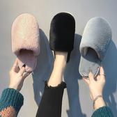 絨毛拖女士家用保暖棉拖鞋室內毛毛絨拖鞋加厚防滑可愛包頭居家鞋