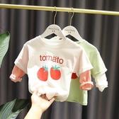 1-3-7歲女寶寶可愛小清新衛衣女童春裝韓版長袖女嬰兒洋氣拼接T恤 快速出貨