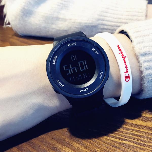 簡約潮流手錶男士防水夜光男孩女中學生多功能運動個性情侶電子錶  夏季新品