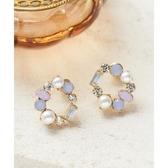 日本phoebe 環狀藍寶石耳環