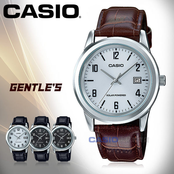 CASIO 卡西歐 手錶專賣店 MTP-VS01L-7B2 男錶 皮革錶帶  太陽能 防水 日期顯示