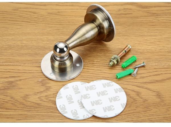 【不鏽鋼門吸】不銹鋼門擋 磁吸式門檔 強磁緩衝門止 大門房門附免打孔背膠及鑽孔螺絲