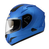 【ZEUS 瑞獅 ZS 806F 素色 消光細閃銀藍 全罩 安全帽 】雙層鏡片、免運費