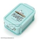 〔小禮堂〕史努比 日製雙扣便當盒《藍綠.躺麵包》450ml.保鮮盒 4901610-58301