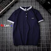 伊人閣 條紋 POLO衫 短袖 T恤