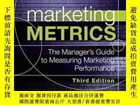 二手書博民逛書店Marketing罕見Metrics: The Manager s Guide To Measuring Mark