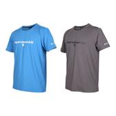 FIRESTAR 男彈性印花圓領短袖T恤(慢跑 路跑 運動上衣 吸濕排汗 免運 ≡排汗專家≡