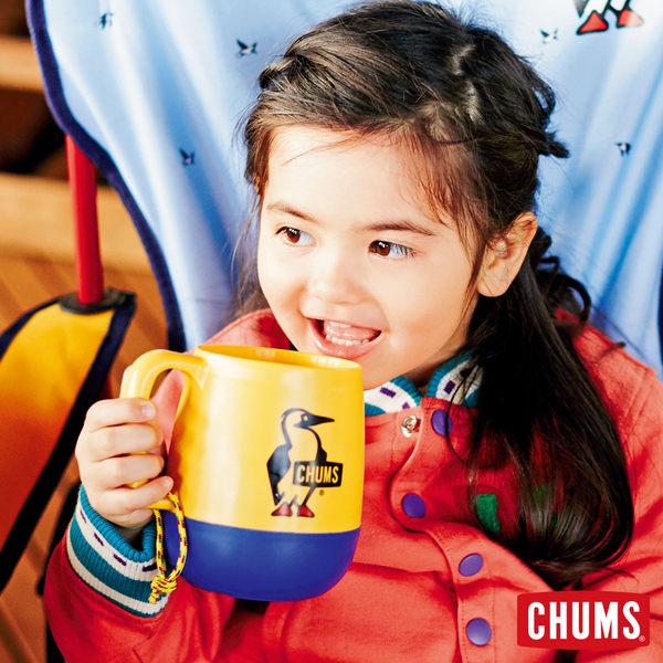 【日本製】CHUMS 露營野餐 圓桶馬克杯 白/海軍藍 (450ml) CH621047W015