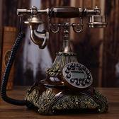 創意美式復古轉盤電話機座機歐式仿古電話機老式古董插卡家用電話 生活樂事館