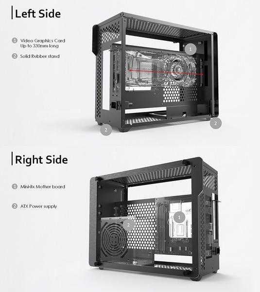 [地瓜球@] RAIJINTEK OPHION EVO 電腦 機殼 機箱 全鋁制 鋼化玻璃 濾網