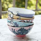 寶寶兒童飯碗小碗陶瓷吃飯可愛卡通套碗創意日式日本進口餐具家用