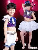 兒童舞蹈服女演出服幼兒園男爵士舞亮片蓬蓬紗裙街舞表演服裝