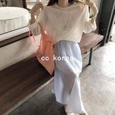 慵懶風防曬針織罩衫 CC KOREA ~ Q17298