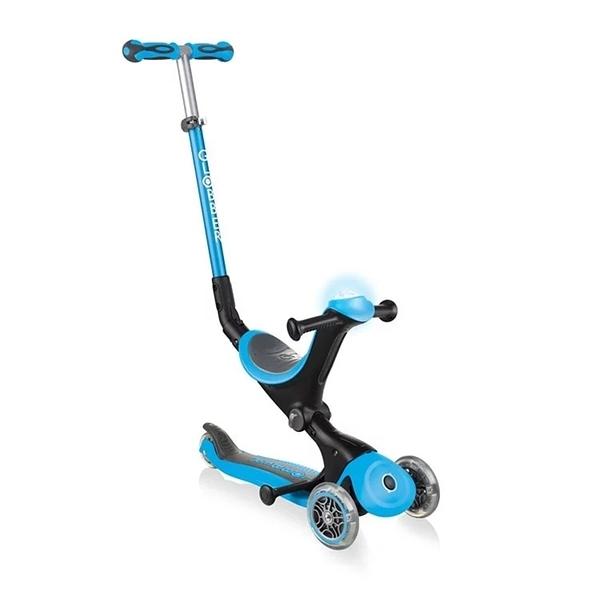 Globber 哥輪步 GO•UP 5合1豪華版滑板車(聲光版)-天空藍[衛立兒生活館]